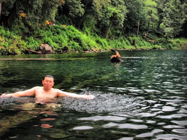 menikmati danau gunung tujuh kerinci