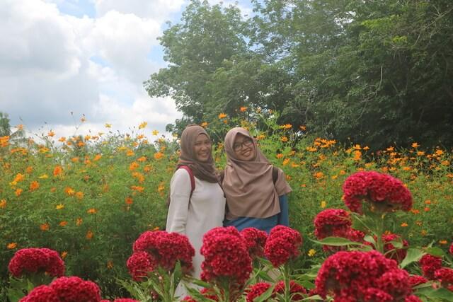 berswafoto di taman bunga impian okura pekanbaru