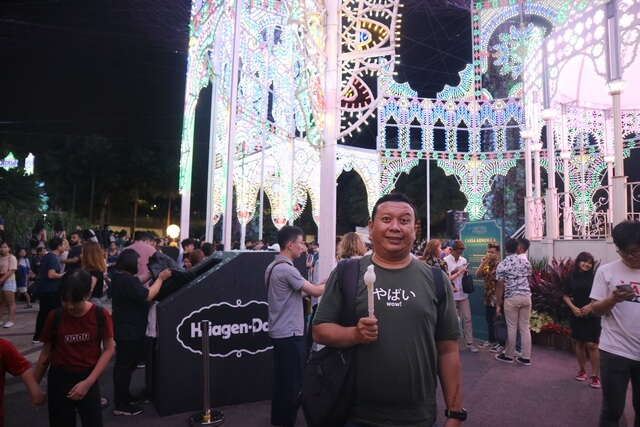 event saat natal di gardens by the bay